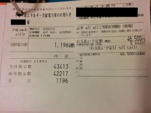 売電収入 2014/4
